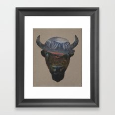 Bison Peak Framed Art Print