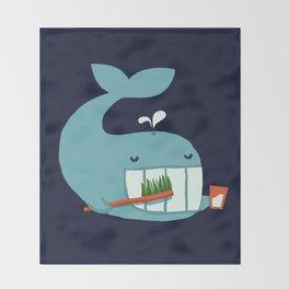 Brush Your Teeth Throw Blanket