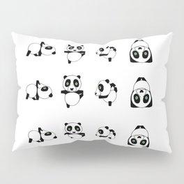 Panda practicing Yoga Pillow Sham