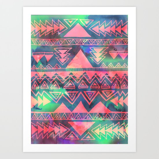 Techno Native Art Print