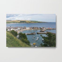 View of Stonehaven in Scotland Metal Print