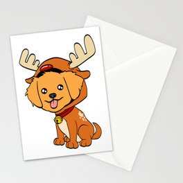 Golden Retriever Christmas Dog T-shirt Design On Xmas Eve or Day Paw Paws Pet Breed Dogs Christmas Stationery Cards