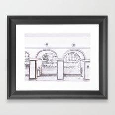 Florence River Drawing Framed Art Print