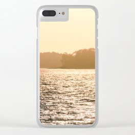 Clarks Hill Lake Sunset Clear iPhone Case