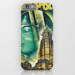 Vintage 1926 'Metropolis' Lobby Card Movie Film Poster by Fritz Lang iPhone Case