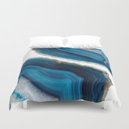 Blue Agate Duvet Cover
