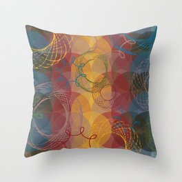 Vintage Spirals Throw Pillow