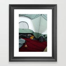 Camping Gnome Framed Art Print