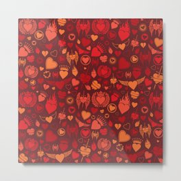 heart seamless pattern (valentine's day background) Metal Print