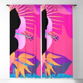 Hot Tropical Colors With Bird Of Paradise Blackout Curtain
