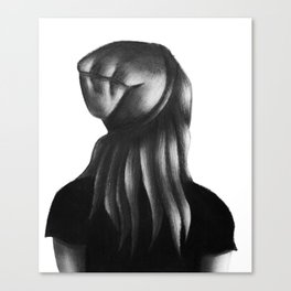 The Beanie Girl Canvas Print