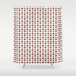 Loose Lips (on Graphic White Background) Shower Curtain