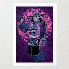 Samurai Kitty Art Print