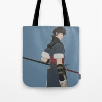 fire emblem awakening Tote Bags featuring Lon'Qu - Fire Emblem Awakening  by MKwon