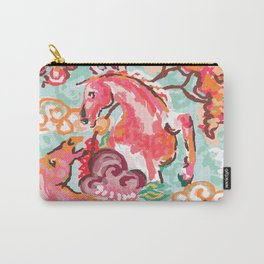 Equus Chinoiserie Carry-All Pouch