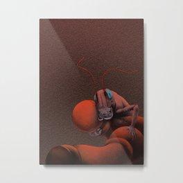 Scarlet Grasshopper Metal Print