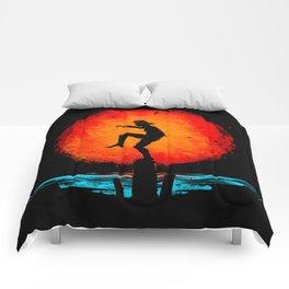 Minimalist Karate Kid Tribute Painting Comforters