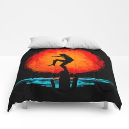 Minimalist Karate Kid Tribute Painting Comforters