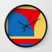superhero Wall Clocks featuring Superhero Abstract by StevenARTify