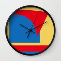 superhero Wall Clocks featuring Superhero Abstract by StevenARTify