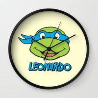 leonardo Wall Clocks featuring Leonardo by husavendaczek