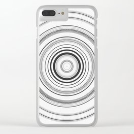 Circles #1 Clear iPhone Case