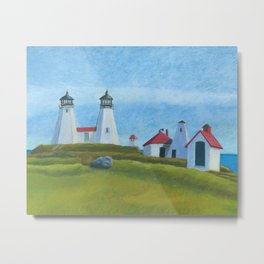 Plymouth Lighthouse Metal Print