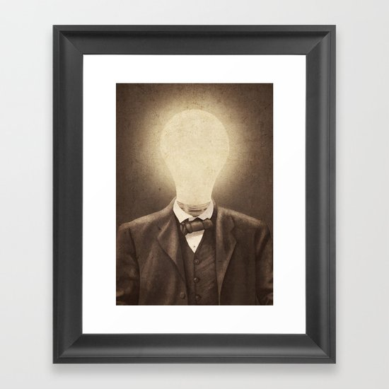 The Idea Man  Framed Art Print