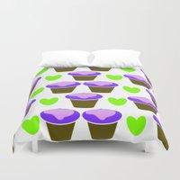 cookie Duvet Covers featuring Cookie love by mirelajoja