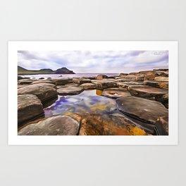 The Giant's Causeway,Ireland.(Painting) Art Print