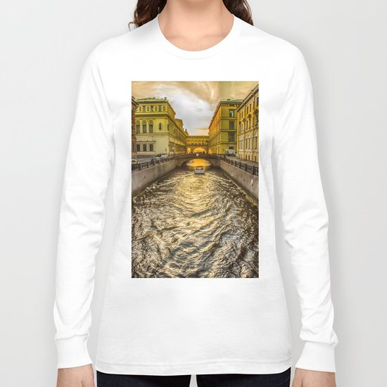 Swan Canal in St. Petersburg Long Sleeve T-shirt