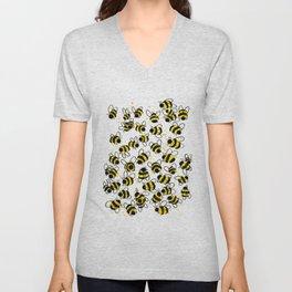 Bumble Bees Unisex V-Neck