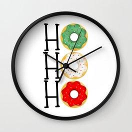 Ho Ho Ho - Holiday Donuts Wall Clock