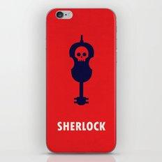 Sherlock - Violin and Skull Minimalist iPhone & iPod Skin