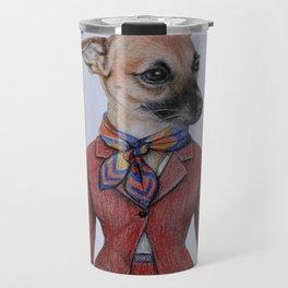 dog in uniform Travel Mug