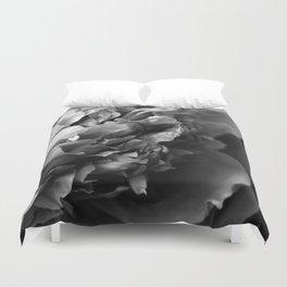 Black and White Summer Peony Duvet Cover