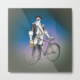 Every weekend I take the fixed gear to the farmers market for Vegan Artisan Granola. Metal Print