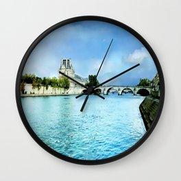Seine River - Paris France Wall Clock