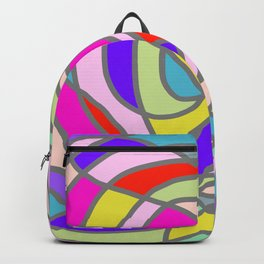 Stain Glass Abstract Meditation Tango Backpack