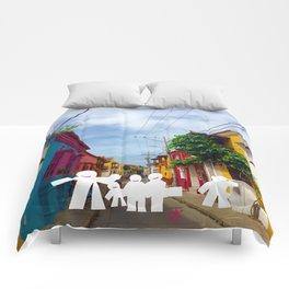 C for Cartagena Fun Cut Out Cartagena Street Print Comforters