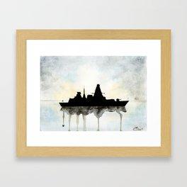 HMS Daring Watercolour Framed Art Print