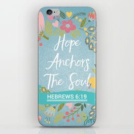 Hebrews 6:19 – Hope Anchors The Soul iPhone Skin