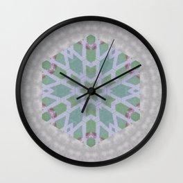 green honeycomb Wall Clock