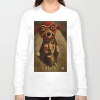 princess mononoke Long Sleeve T-shirts featuring Mononoke by Debono Art
