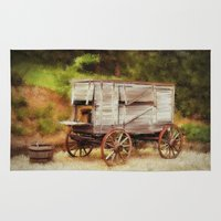 chuck Area & Throw Rugs featuring Chuck Wagon by Mary Timman