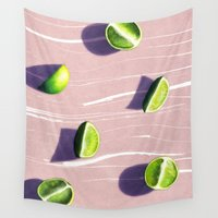 fruit Wall Tapestries featuring fruit 10 by LEEMO