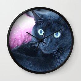 Spooky the Black Feral Halloween Sanctuary Cat Wall Clock