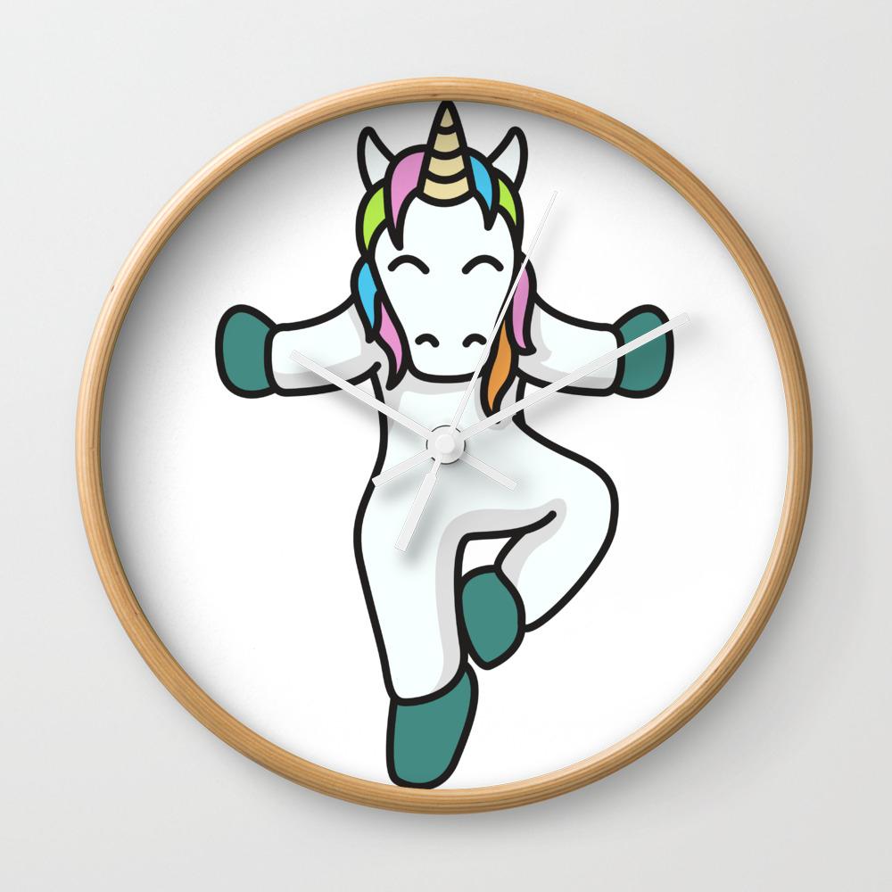 Yoga Unicorn Fitness Gift Idea Meditation Sports Clock by franja2