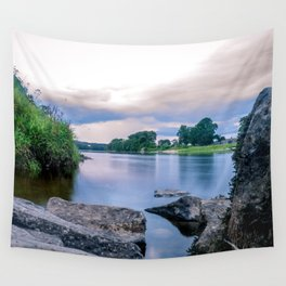 Long Exposure Photo of The River Tay in Perth Scotland Wall Tapestry