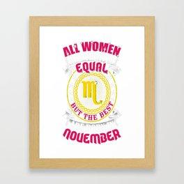 Best-Women-Born-In-November-Scorpio---Sao-chép Framed Art Print